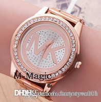 Wholesale good MK Michael Kores style wristwatch watches Stainless Steel bracelet top brand luxury replicas Jewelry for men women mens MW01