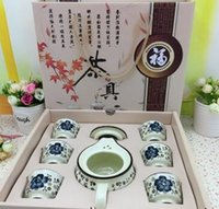 Wholesale Hand painted ceramic tea sets special tea gift set Ceramic teapot will pin gift and custom