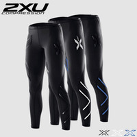 Wholesale 2XU Men Compression Tights Pants Black Blue Sport Trousers Jogging Breathable Superelastic Joggers