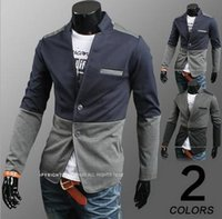 Wholesale 2016 new hot fashion personality men s suit jacket male fashion jacket cotton blazer outerwear Gray Blue