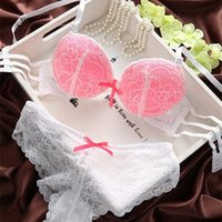 Wholesale push up black sexy lace cutout fashion new arrival breasted side gathering fashion bra set