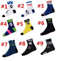 Wholesale Newest Pro Team Movistar Saxo Bank Thinkoff Lampre Cycling Socks Ski Breathable Cycling Socks Calcetines Ciclismo compression