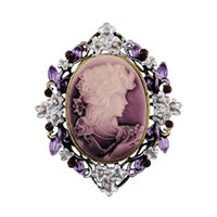 Wholesale Classic Vintage Style Retro Cameo Beauty Queen Head Brooch