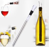 Wholesale Wine chiller stick Stainless Steel Wine Cooler Stick Wine Cooling Rod with Wine Pourer retail package