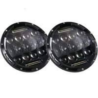 Wholesale 2PCS SET Inch W High Beam W Low Beam Phillips LED Headlight with DRL For Jeep Hummer FJ