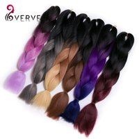 al por mayor ombre lía colores-Trenzado sintético cabello colores 100g paquete multicolores postizos africano pelo trenzas para mujer xpression dos tono