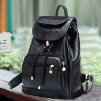Wholesale Women Backpacks PU Leather Shoulder School Bags For Teenagers Girls Laptop Backpack Waterproof Travel Bagpack out103