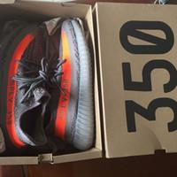 big orange box - Big Size eur V2 Kanye West Beluga BB1826 Grey Orange With Original Box Keychain TPU Bottom stripe lines Running Shoes