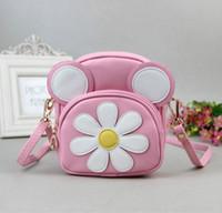 Wholesale Children Handbag Girls Bags Floral Handbags Korean Kids Shoulder Bag Children PU Leather Bag Classic Messenger Bag Candy Color
