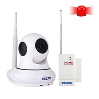 arm security systems - 2015 New ESCAM Wireless IP Camera QF500 Arm System P2P Wi Fi Camera Security Camera Support to GB TF Card with Door Sensor