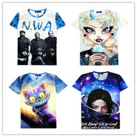 Cheap 2016 Cartoon 3D T Shirts for men O Neck Men t shirt brands Tops Short sleeves Tshirts Euro Size 444 by DHL