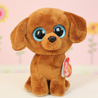Wholesale 35 Design Ty Beanie Boos Plush Stuffed Toys cm Big Eyes Animals Soft Dolls for Kids Birthday Gifts ty toys Free ship