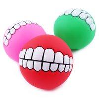 Супер толстый Evade клей мяч игрушки зубы шаблон укуса собаки стойкие звуковые игрушки товары для животных WA0787
