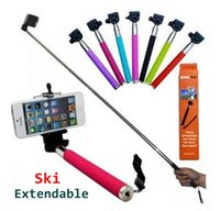 best ski poles - best sell Self timer tripod Extendable Ski Pole Handle Telescopic Monopod with Tripod Mount for Top Quality TD2