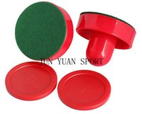 air hockey pucks - High quality Air Hockey mm Goalies With mm Puck Felt Pusher mallet Adult Table games entertainments toys