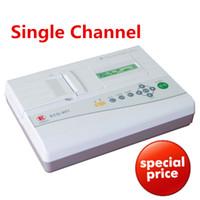 Wholesale Free ship Advanced Single channel ecg CE EKG device ISO ekg monitor equipments stable ECG machine high quality ecg HOT monitor