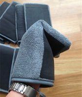 Wholesale cm Grey Fiber Car Clean Gloves New Technology Polymer Clay Towel Gloves Car Washing Clay Mitt Car Clay Gloves Clay Bar Gloves