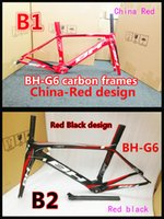 bh best - Selling best Two models T1000 K Red BH G6 carbon bike frames Made in China with BSA BB30 road bike carbon frameset
