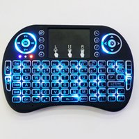 Wholesale Rii I8 Wireless Bluetooth Keyboard Smart Fly Air Mouse Backlit GHz Remote Control Touchpad For Android Box MX3 M8S White Black