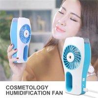 beauty gear - handheld mist fan Mini USB Handheld Beauty Moisturizing Fan with Personal Cooling Spray Humidifier Built in Rechargeable Battery for Beauty