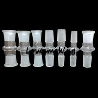 Wholesale Glass Adapters For Bongs mm to mm With Male Female Grinding Mouth Clear joint Glass Adapter for Converter Glass bong Adapter