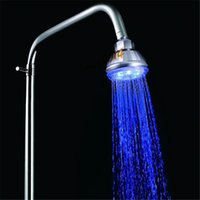 abs hose - Romantic Temperature Control Color LED Light Shower Head