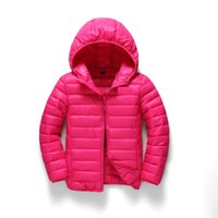 Wholesale Hot sales outerwear hooded warm coats size boys and girls child jacket new color children s cotton padded clothes top fashion