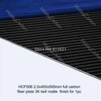 Wholesale HCF006 X400X500mm Pure Carbon fiber twill matte plates sheet board board shorts for men board tablet