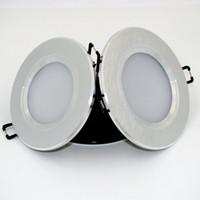 al por mayor kit de luces de abajo-Led down lights 3 vatios LED de 2,5 pulgadas de luz empotrada de iluminación redonda para el panel delgado del vestíbulo Kit para la nueva construcción Negro de plata ultra fino