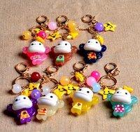 animal moon jellies - Sweet monkey Keychain auspicious acrylic jelly adorable doll ball bag pendant car ornaments