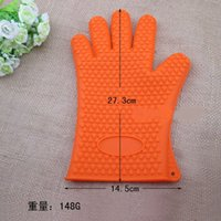 baking gadgets - Insulation Silicon Glove Potholder For Microwave Bakeware Oven Kitchen Gadgets Cooking Tools heat resistant glove cooking baking BBQ oven