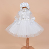 baby clothes images - Baby Birthday Christening Dress Newborn Baby Girl Clothes Princess Veil Dress baby Princess Dress Three Piece white color
