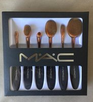 artist shapes - Anastasia MC High Grade black toothbrush shape set Professional Artist Synthetic Hair Makeup Brushes Sets Kits DHL free