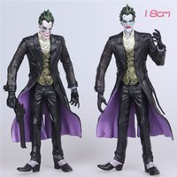 action figures dc - 18cm Batman The Joker Movable joints PVC Action Figure DC comics the dark knight rises Collectible Model Toy weapons Toys vs superman gifts