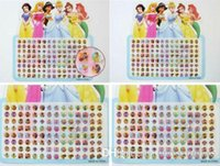 Wholesale 20 sheets pairs Snow White princess Multicolor stick on earring rings stickers