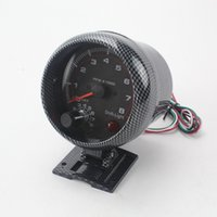 Wholesale 3 inch mm Racing Car RPM Carbon Fiber Tachometer Gauge With Shift Light Mounting Bracket Auto Car Meter
