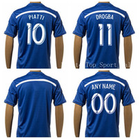 Wholesale Montreal Impact Jersey Soccer PIATTI DROGBA Football Shirt Uniform Kits Foot Tshirt Customized Team Color Blue Thai Quality