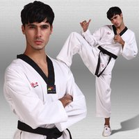 Wholesale 5PCS Cotton tae kwon do adult child general taekwondo uniform dobok long sleeve karate taekwondo clothes kids clothing