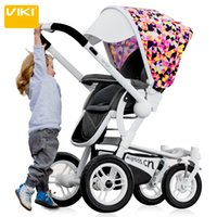 Wholesale 2016 Hot Selling Baby Strollers Baby Travelling Trolley Car High view Folding Children Pushchair with Air wheels Bidirectional Baby Carriage