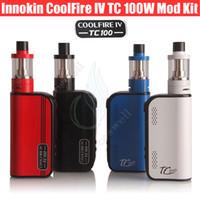 Cheap Authentic Innokin Coolfire IV TC 100 Kit 3ml iSub V Tank Cool Fire 4 TC100 100W Mod 3300mah Aethon Chipset vapor mod e cigarettes Kits DHL