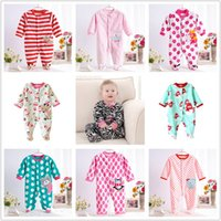 6-9 Months Unisex Spring / Autumn 0-12M Autumn Fleece Baby Rompers Cute Pink Baby Girl Boy Clothing Infant Baby Girls Clothes Jumpsuits Footed Coverall