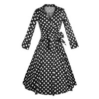 better bows - Fashion s summer women vintage Bow Deep V neck dress Audrey Hepburn lady style Picnic rockabilly dresses Better LSQ