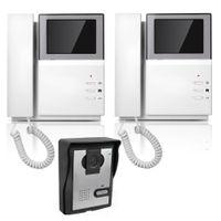 Wholesale 4 quot Color Video Door Phone Video Intercom Doorbell IR Night Vision Camera Monitor for Villa Home F4415B