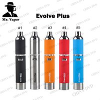 Wholesale Authentic Yocan Evolve Plus Kit Upgraded Evolve Wax Vaporizer Pen Ecigarette Vs Evolve D Vaporizer Dry Herb Titan Herbal Vaporizers e cigs