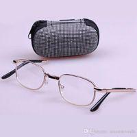Wholesale Folded High quality metal frame eyeglasses Reading Glasses with box E00390 BARD