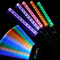 Wholesale 5pcs multicolor changing slowly led luminous light sticks glow in dark party lights wedding decoration flashing led toys