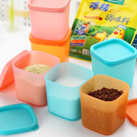 Wholesale 2016 Newly Pieces Set plastic Multifunction storage seasoning box kitchen container with cover