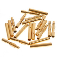 Wholesale 100pairs mm mm Gold Bullet Connector Battery ESC Motor Plug