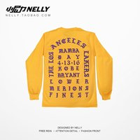Wholesale 2016 Kanye West I Feel Like Kobe long sleeve commemorate T shirt