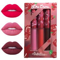 beauty cupid - 3pcs New Brand Makeup Red Velvet Matte Lip Gloss CUPID TRUE LOVE SAINT Liquid Lipstick Beauty Batom Mate Maquiagem Gift